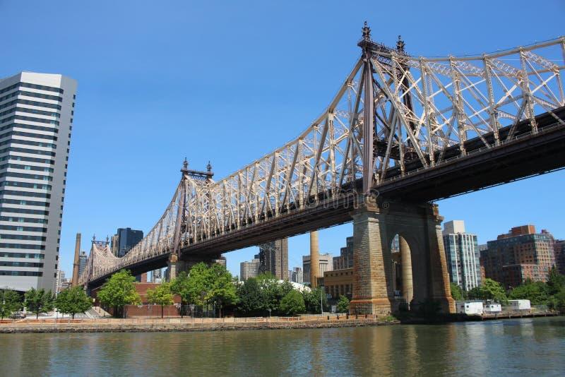 Den Queensboro bron i New York royaltyfri fotografi