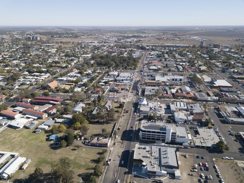 Den Queensland staden av Dalby royaltyfri bild