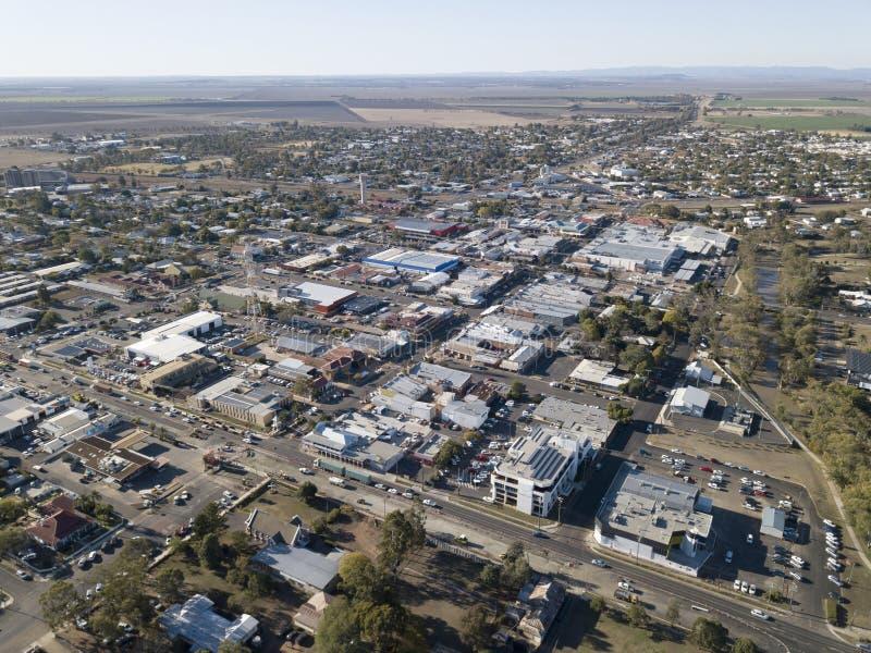 Den Queensland staden av Dalby arkivbilder