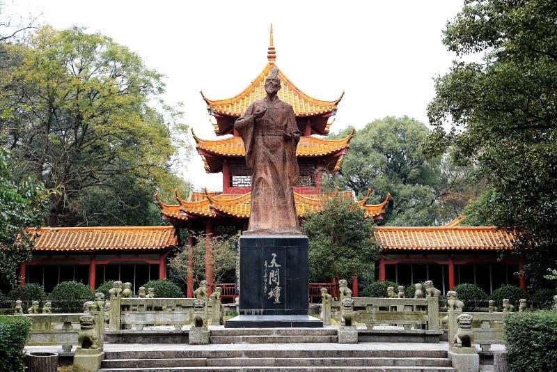 Den Quzi templet i den Miluo staden royaltyfri fotografi
