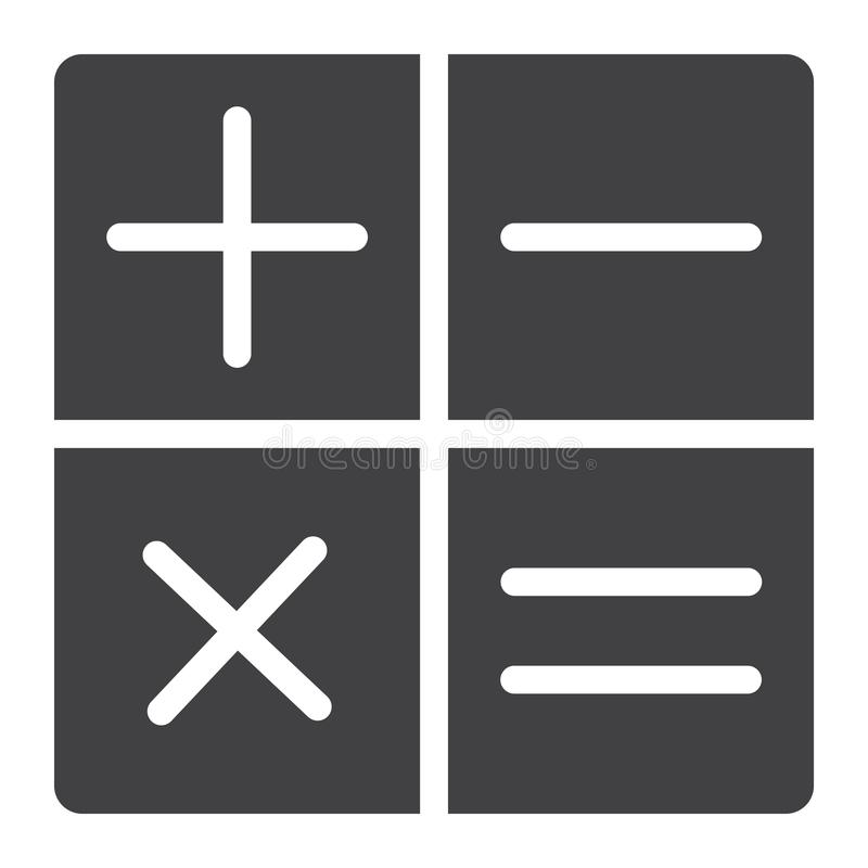 Den räknemaskinskårasymbolen, rengöringsduken och mobilen, beräknar vektor illustrationer