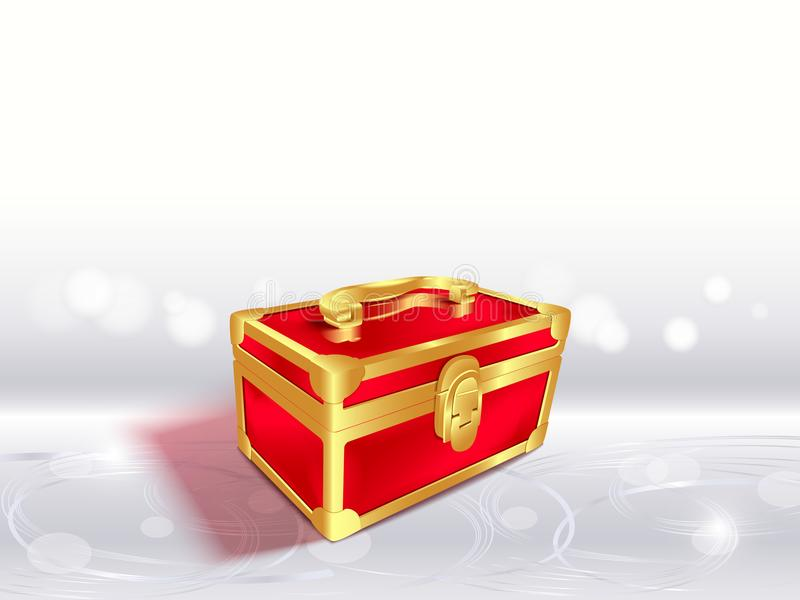 Den röda gåvan boxas royaltyfri illustrationer
