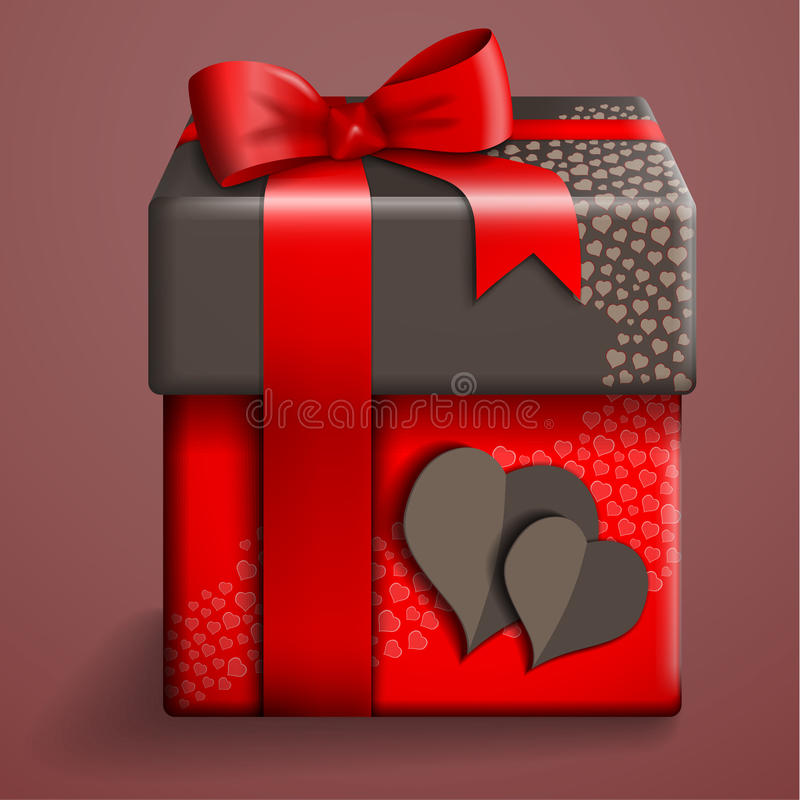 Den röda gåvan boxas stock illustrationer