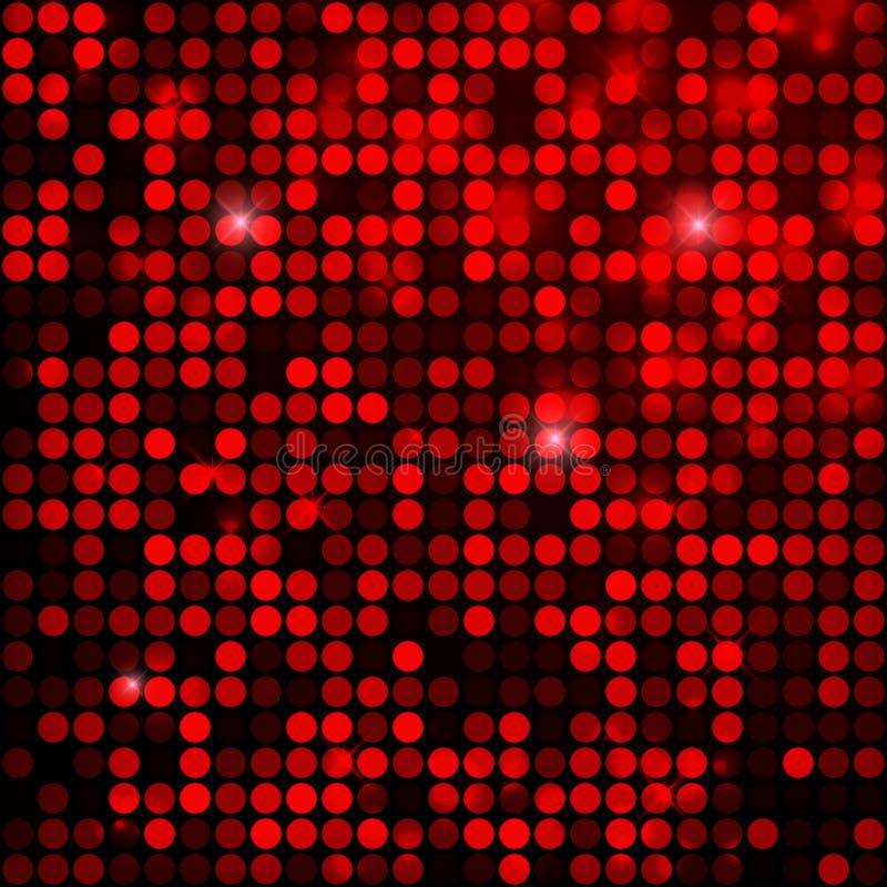 Den röda gnistrandet blänker paljettbakgrund royaltyfri illustrationer