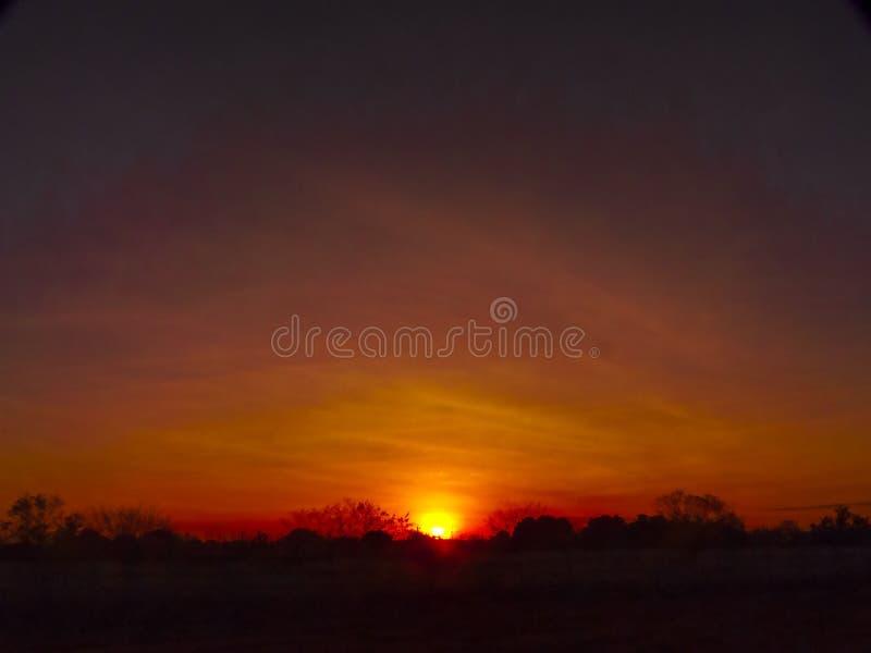 Den röda himlen i Amerika royaltyfria bilder