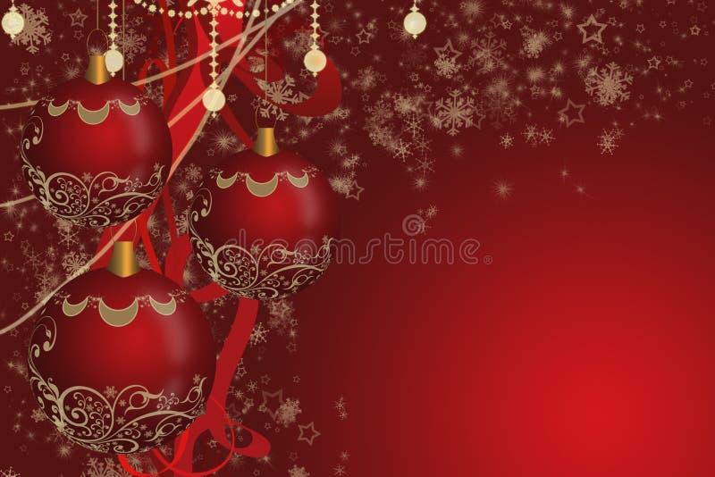 Den röda julen klumpa ihop sig arkivfoto
