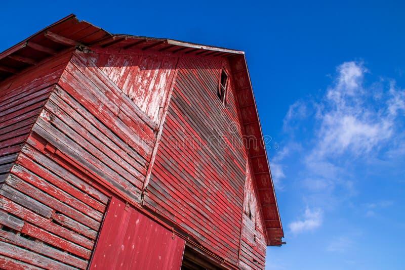 Den röda ladugården arkivfoton