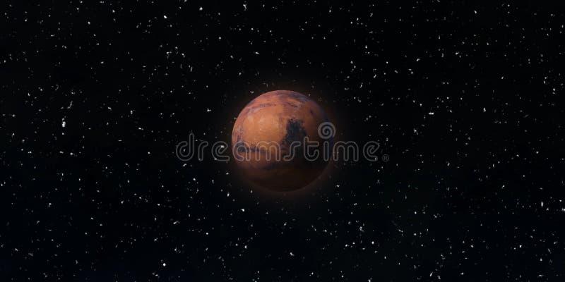 Den röda planeten fördärvar Astronomi- och vetenskapsbegrepp Beståndsdelar av denna avbildar möblerat av NASA royaltyfri fotografi
