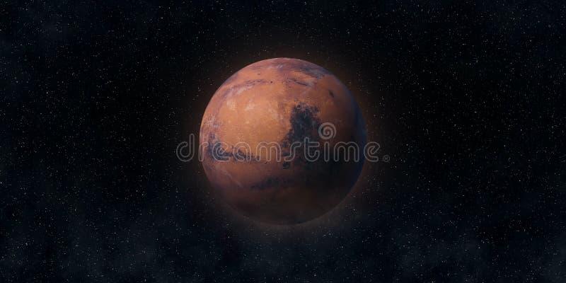 Den röda planeten fördärvar Astronomi- och vetenskapsbegrepp Beståndsdelar av denna avbildar möblerat av NASA fotografering för bildbyråer