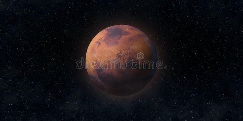 Den röda planeten fördärvar Astronomi- och vetenskapsbegrepp Beståndsdelar av denna avbildar möblerat av NASA arkivfoton