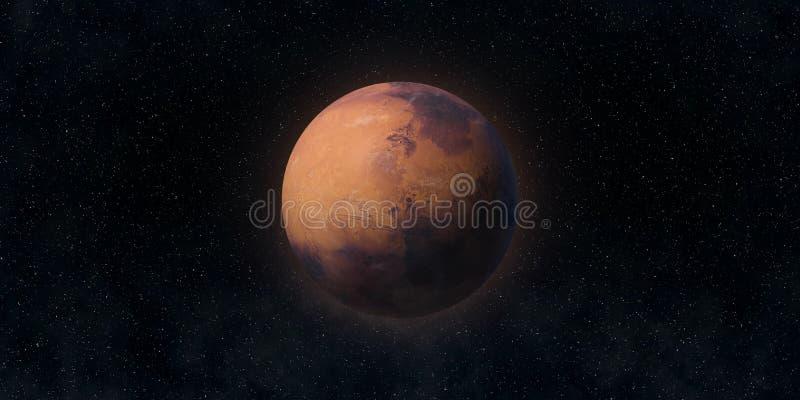 Den röda planeten fördärvar Astronomi- och vetenskapsbegrepp Beståndsdelar av denna avbildar möblerat av NASA royaltyfria foton