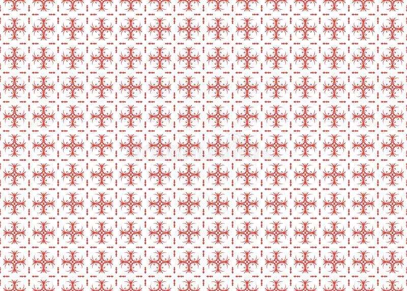 Den röda växttegelplattaprydnaden royaltyfri illustrationer