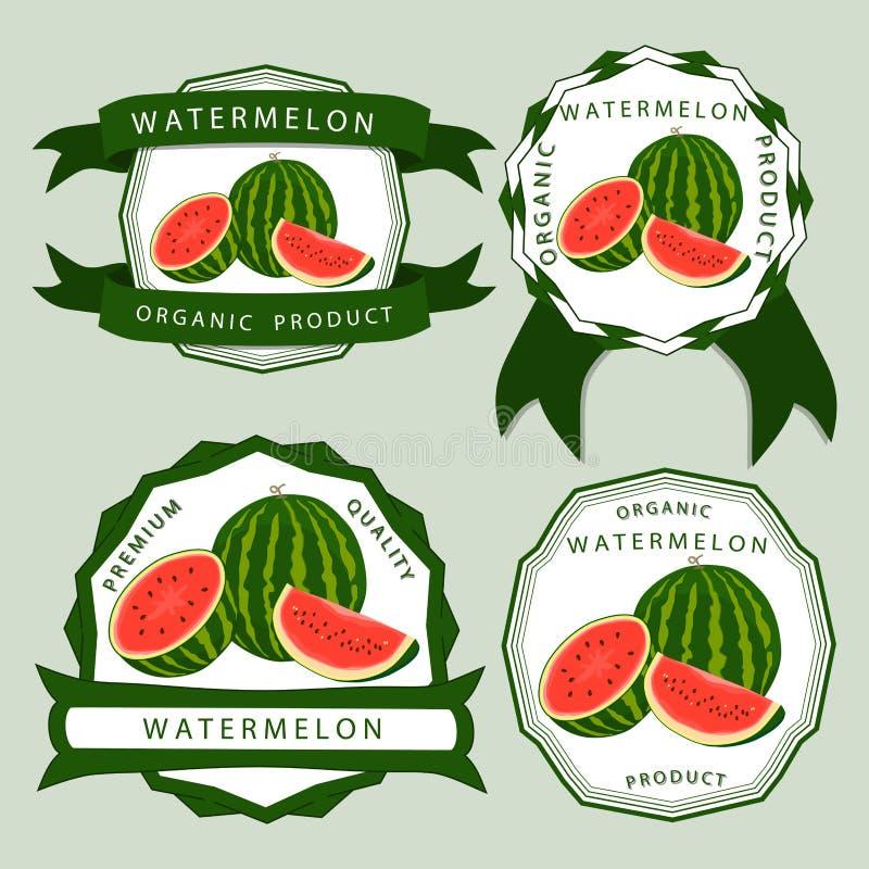 Den röda vattenmelon vektor illustrationer