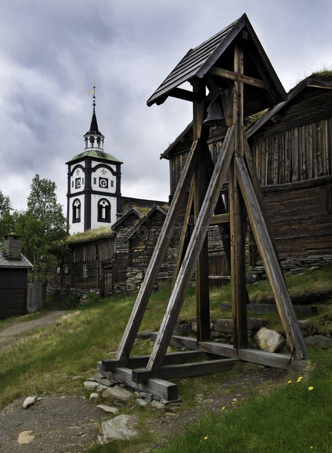 Den Røros kyrkan, Norge arkivbilder