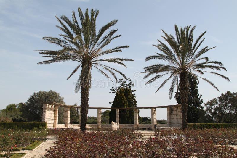 Den Ramat Hanadiv naturen parkerar, Israel royaltyfri bild