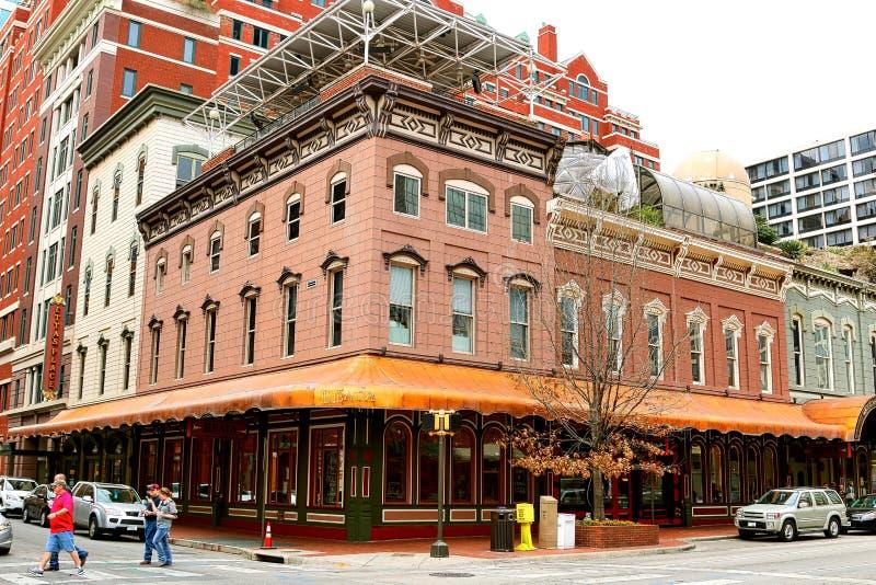 Den Reata restaurangen, Fort Worth Texas arkivbild