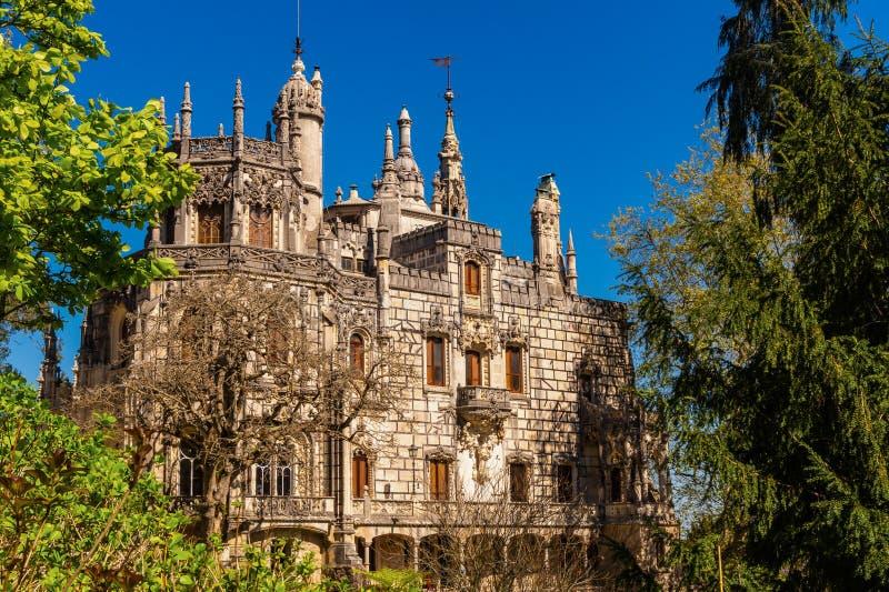 Den Regaleira slotten, Quinta da Regaleira, Sintra, Portugal royaltyfria bilder
