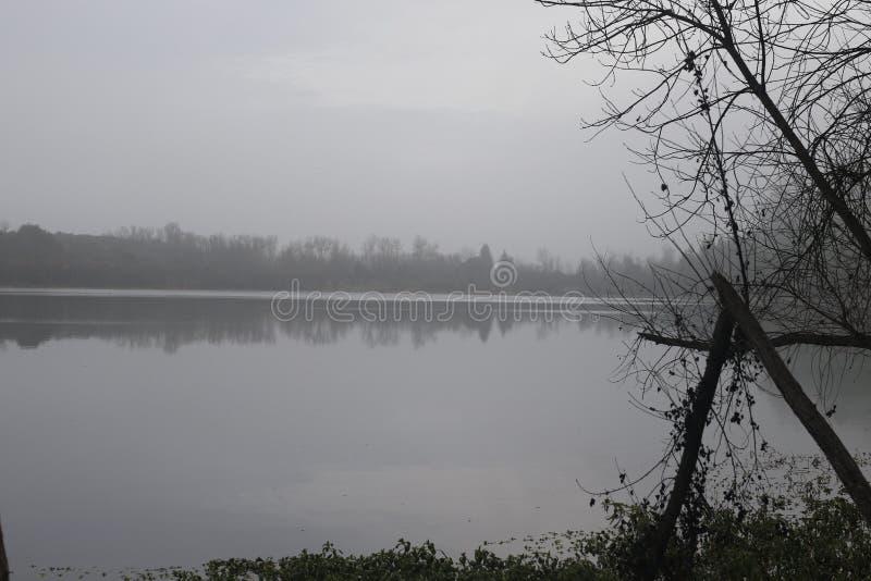 Den regionala riverfronten parkerar - precis är minuter som är västra av Windsor och omger av klassiskt landskap för vinland Vint royaltyfri foto