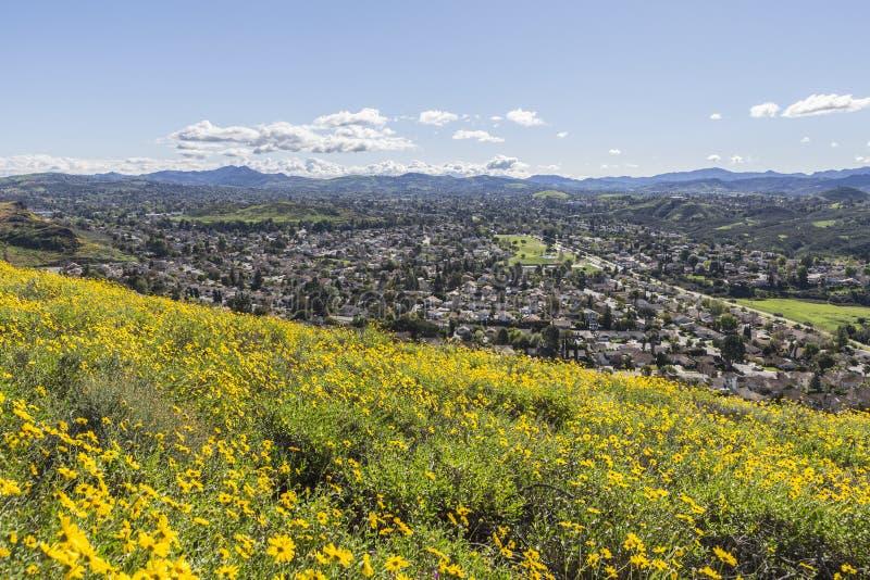 Den regionala urskogen parkerar i Thousand Oaks Kalifornien royaltyfria foton