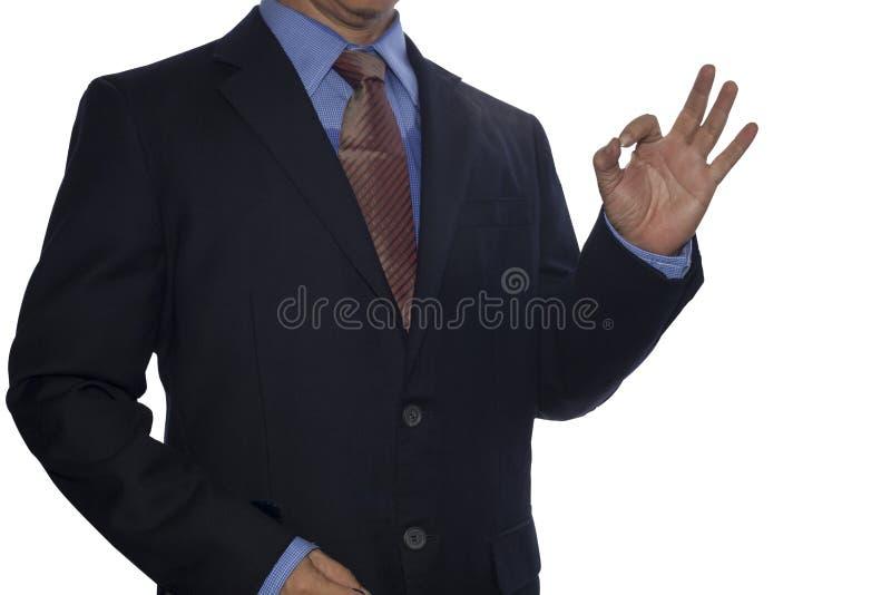 Den reko showen för affärsmannen undertecknar in handen arkivfoton