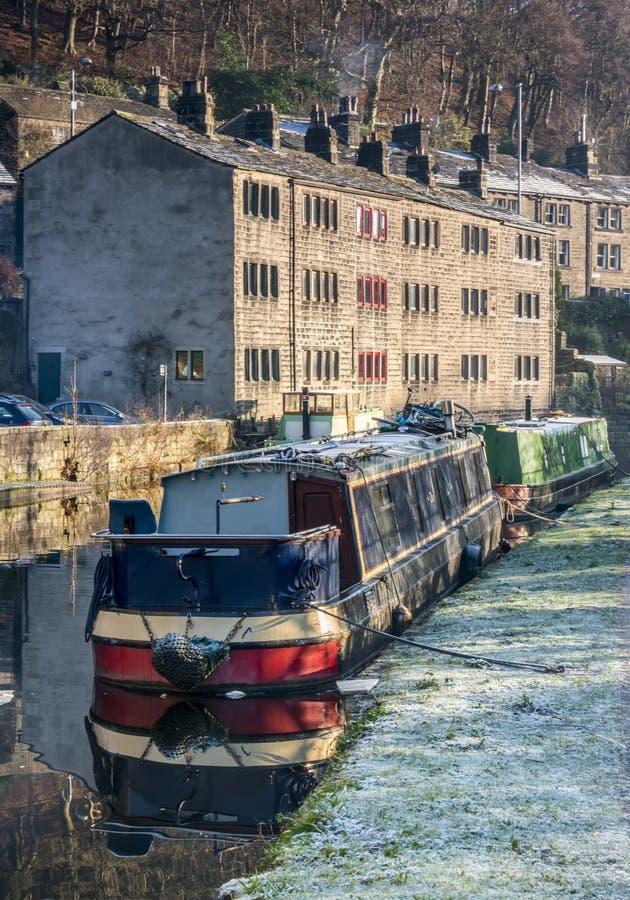 Den Rochdale kanalen hebden bron royaltyfria foton