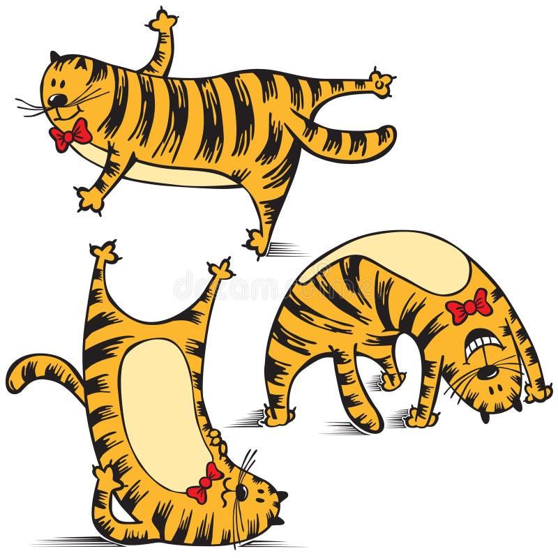den roliga kattövningen gör sportar royaltyfri illustrationer