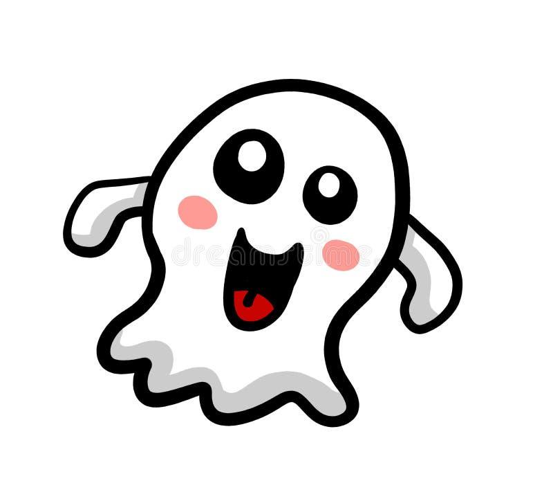 Den roliga spöken önskar att spela stock illustrationer