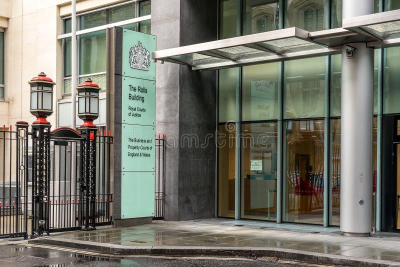 Den Rolls byggnaden i London royaltyfri foto