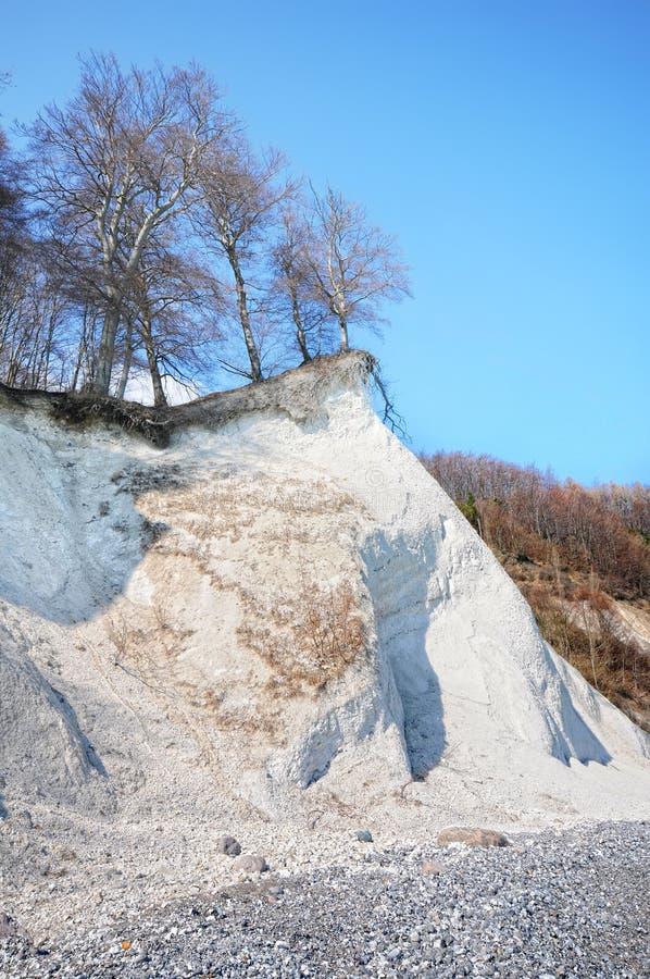 Den Ruegen ön med vit krita vaggar klippan på Tyskland för kusten för det baltiska havet arkivbild