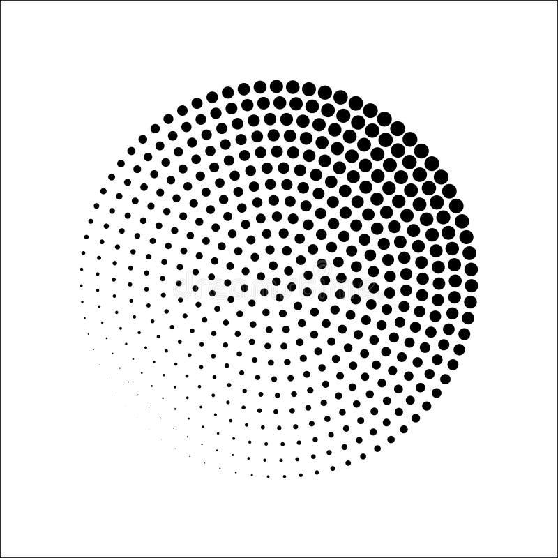 Den runda halvton mönstrar vektorn royaltyfri bild