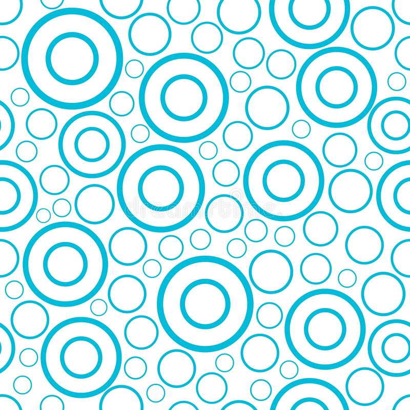 Den runda sömlösa modellen av slumpmässiga cirklar och cirklar smyckar bakgrund vektor illustrationer