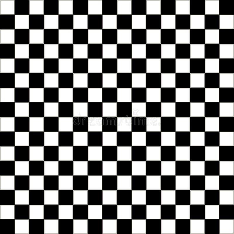 Den rutiga geometriska sömlösa modellen med den lilla ojämna fyrkanten formar Abstrakt monokrom svartvit textur royaltyfri illustrationer