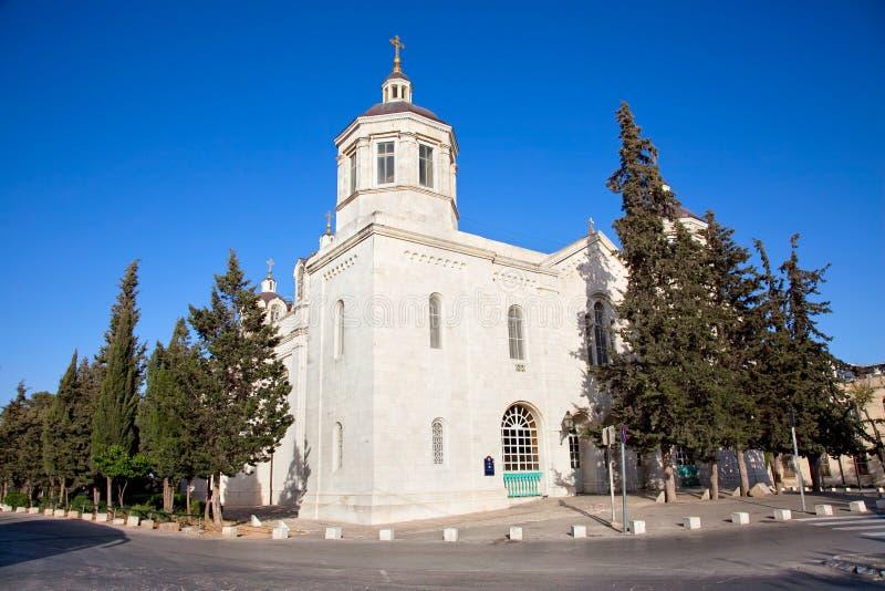 Den ryska kyrkan i Jerusalem royaltyfria bilder