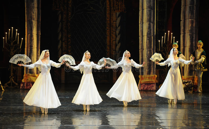 Den ryska viten snör åt klänning-prins av handling-balett för stångmitzvah- den tredje svan sjön royaltyfri foto