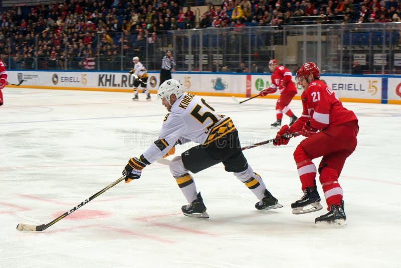 Den Ryssland KHL mästerskapet på arenan parkerar legender arkivbilder