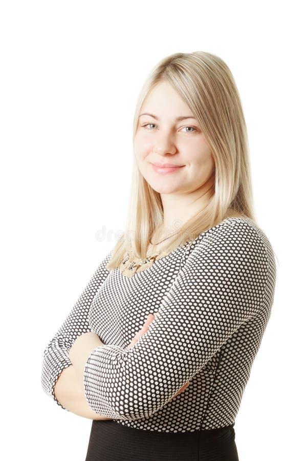 Säker blondin royaltyfria bilder