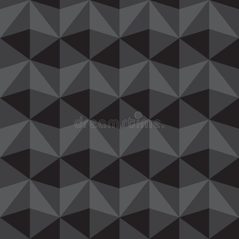 Den sömlösa abstrakt begreppgrå färg- och svarttriangeln mönstrar bakgrund, ve vektor illustrationer