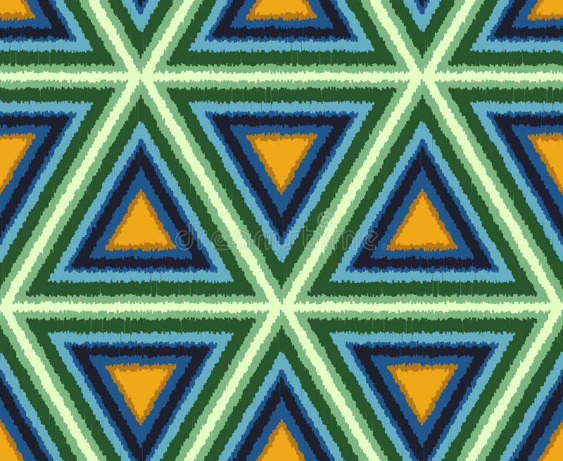 Den sömlösa abstrakta triangeln belägger med tegel bakgrund stock illustrationer