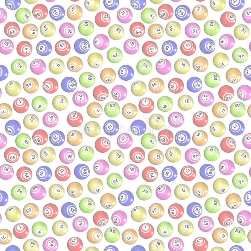 Den sömlösa bingoen klumpa ihop sig bakgrund vektor illustrationer