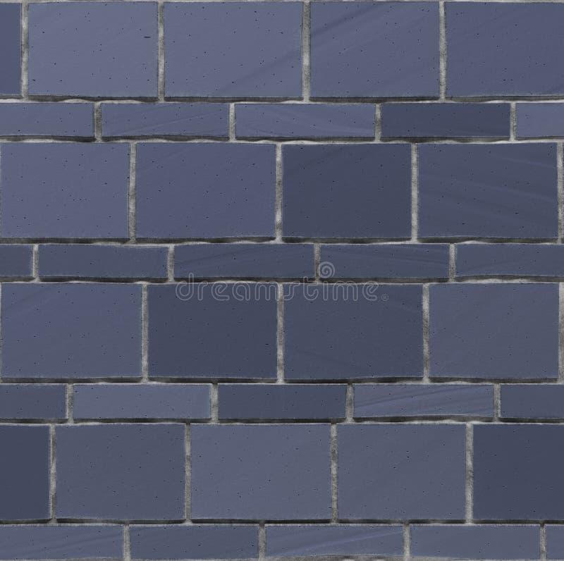 Den sömlösa exturen av marinblått stenar väggen 3d framför royaltyfri illustrationer