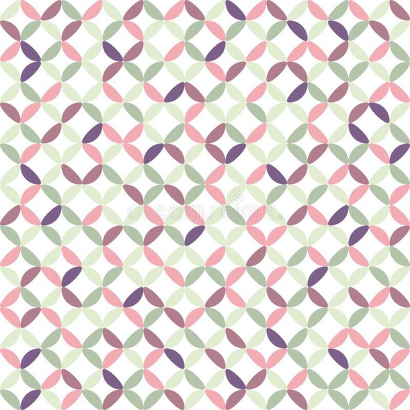 Den sömlösa geometriska designen för bakgrund för modellvektorabstrakt begrepp av cirklar som gjordes med den färgrika ellipsen,  royaltyfri illustrationer
