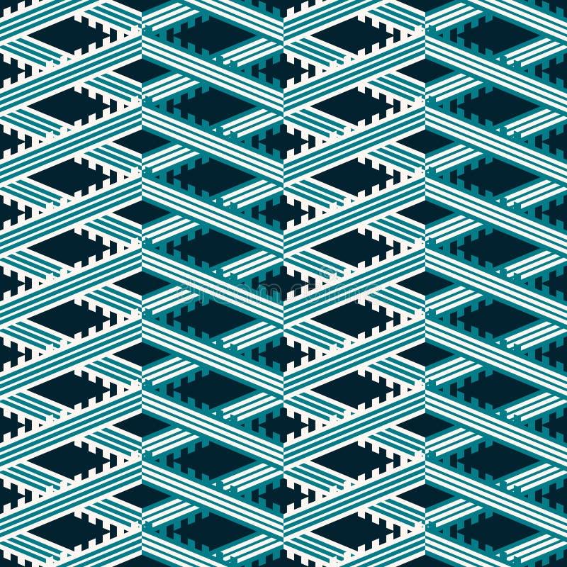 Den sömlösa geometriska modellen av multipeln gjorde randig göra hack i sicksack stock illustrationer