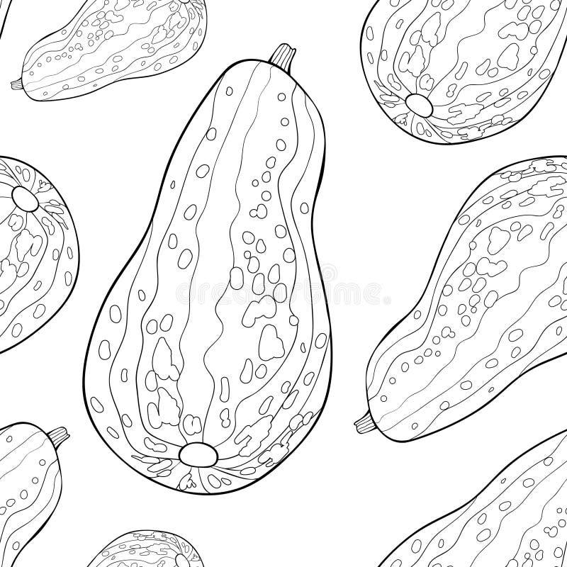 Den sömlösa modellen är naturlig grönsakmärg Vektor Illustratio stock illustrationer
