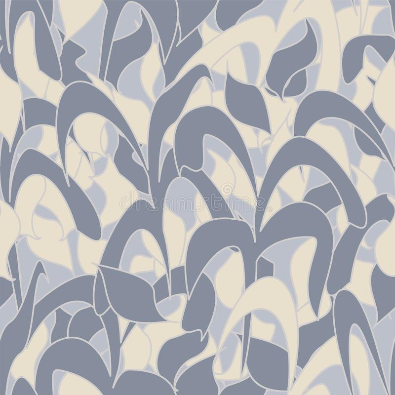 Den sömlösa modellen, övervintrar kamouflage av vasssidor för tyger, tapeter, borddukar, tryck och designer abstrakt bakgrund royaltyfri illustrationer