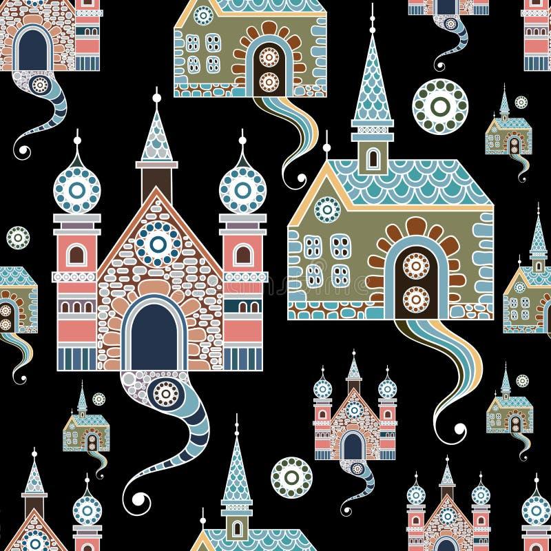 Den sömlösa modellen med snör åt slott 3 stock illustrationer