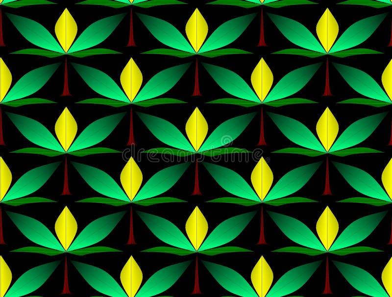 Den sömlösa prydnaden med en abstrakt dekorativ 3D blommar vektor illustrationer