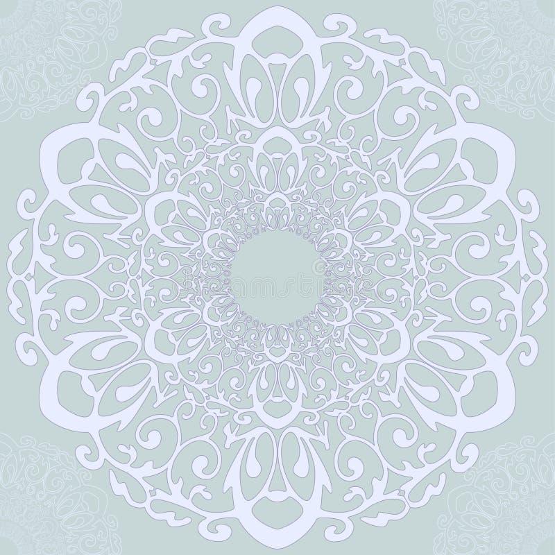 Den sömlösa svartvita tappningmodellen med cirkuläret snör åt prydnaden vektor illustrationer