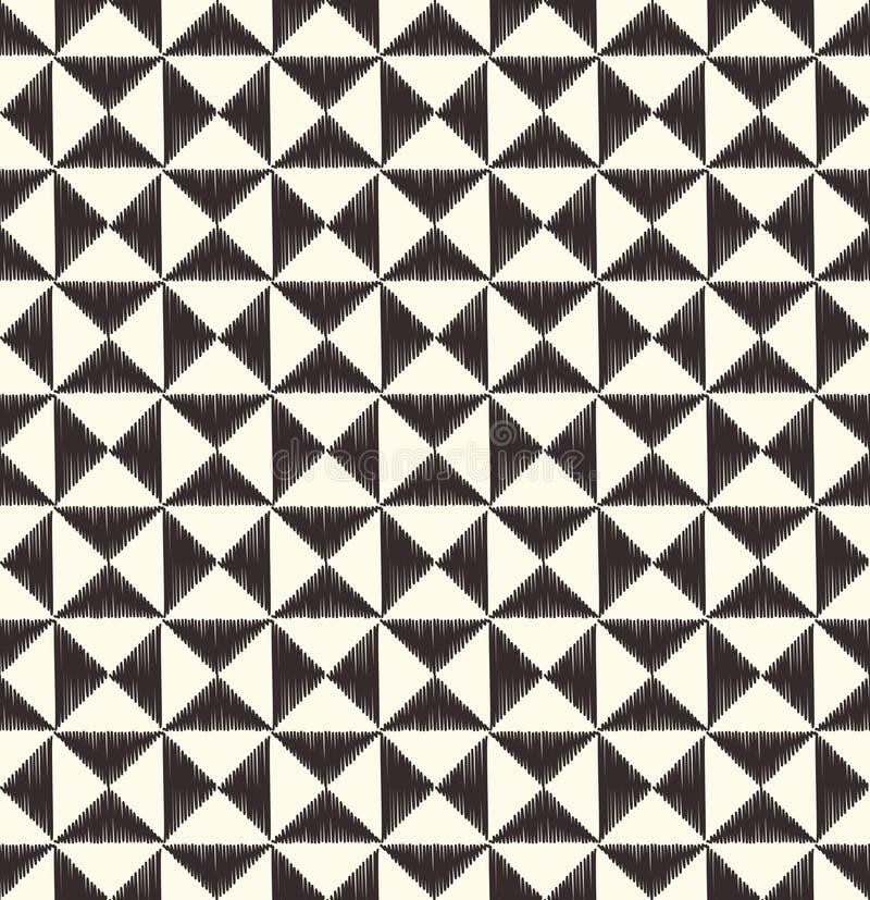 Den sömlösa triangeln belägger med tegel den geometriska modellen vektor illustrationer