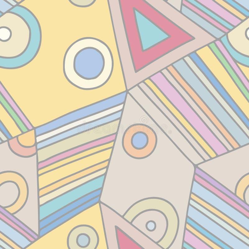 Den sömlösa vektormodellen, rosa färg fodrade assymetrisk geometrisk bakgrund med romben, trianglar Tryck för dekoren, tapet som  vektor illustrationer
