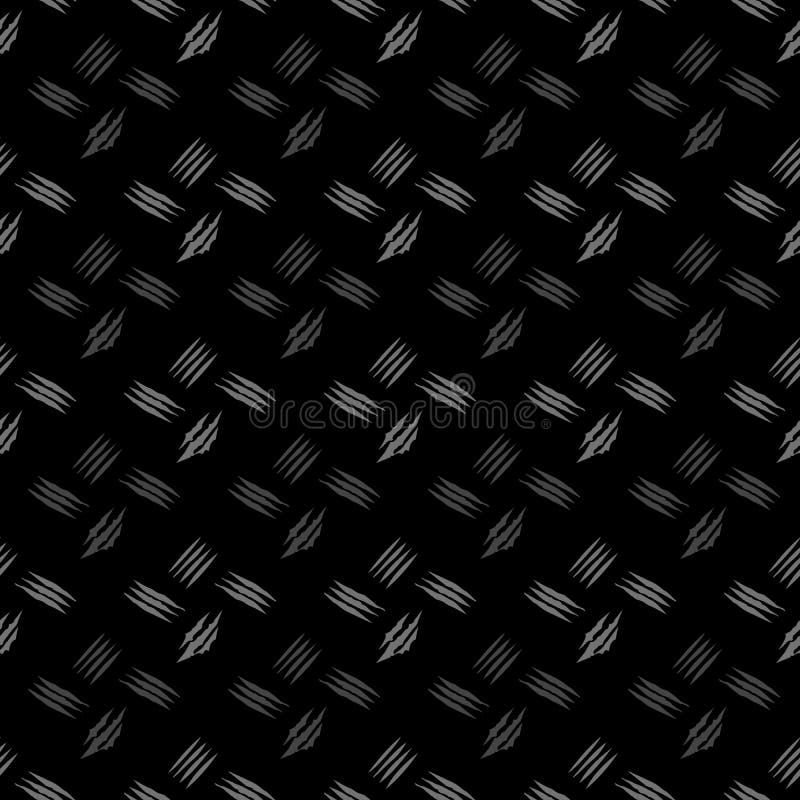 Den sömlösa vektorn klottrar modellen som göras av smutsiga ojämna sicksacklinjer Dekorativ textur för trycket, inbjudan vektor illustrationer